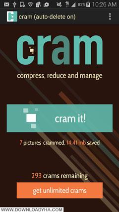Cram - Reduce Pictures Premium 3.4 - نرم افزار کاهش حجم تصاویر اندروید