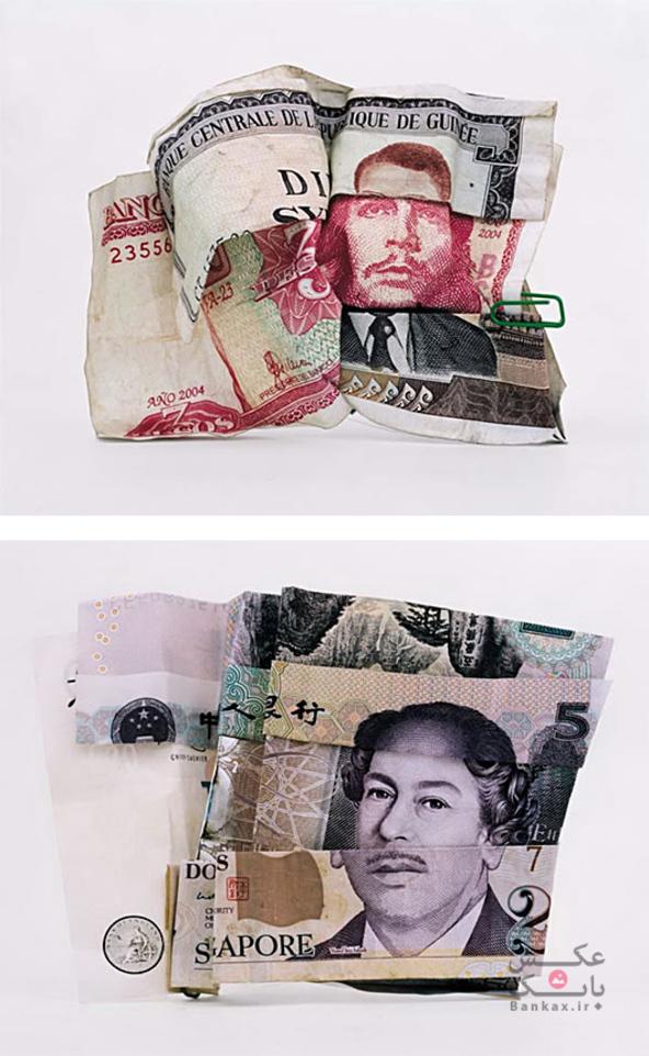 پرتره هایی بر روی اسکناس/بانک عکس