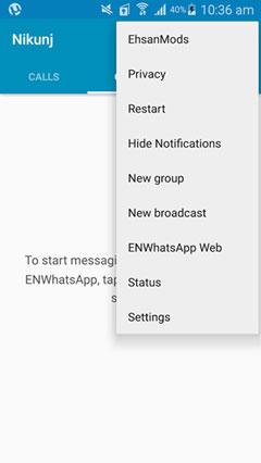 ENWhatsApp 3.6.8 - نصب همزمان دو واتس اپ در یک گوشی اندروید
