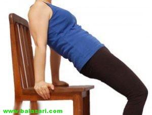 بزرگ کردن سینه با ورزش با صندلی