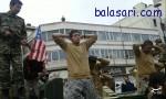 تفنگداران آمریکایی در راهپیمایی ۲۲ بهمن +تصاویر