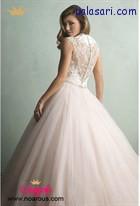 لباس عروس پفی با پشت لباس کار شده