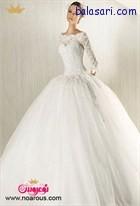 لباس عروس پفی با آستین بلند یکی از زیباترین مدل های لباس عروس است