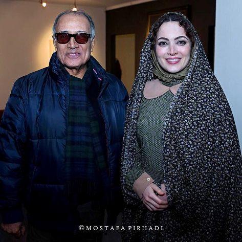 بهنوش طباطبایی در کنار عباس کیارستمی