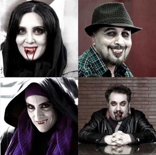 عکس از چهره ترسناک بازیگران زن و مرد ایرانی!