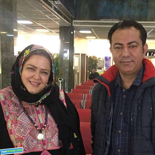 بهاره رهنما کنار خواننده معروف در فرودگاه