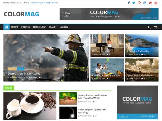 دانلود قالب مجله خبری وردپرس ColorMag