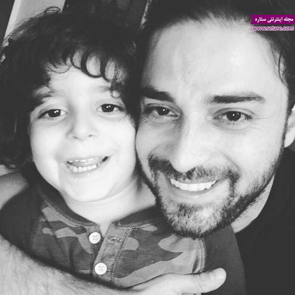 جدیدترین عکس از بابک جهانبخش در کنار پسرش