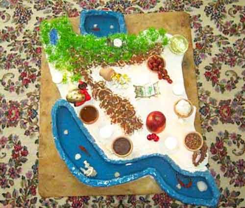 تزئین سفره هفت سین - سفره هفت سین - ایده ها و ابتکاراتی برای سفره هفت سین عید