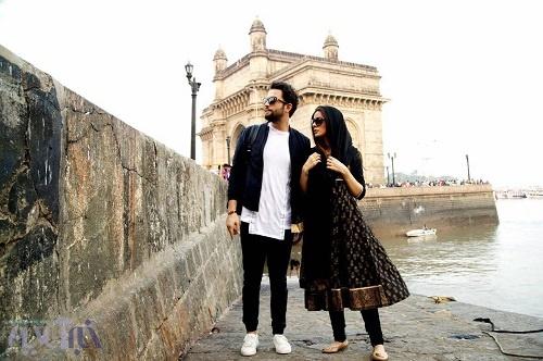 عکس بنیامین بهادری و همسرش شایلی در یک فیلم