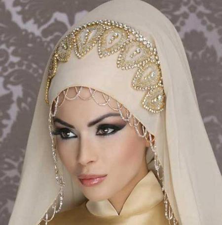 مدل تور و مدل تاج عروس برای عروس های محجبه