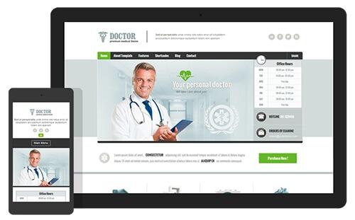 قالب پزشکی وردپرس Doctor نسخه 1.27