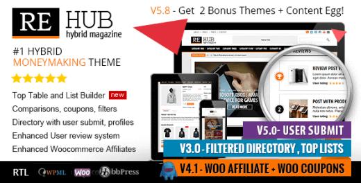 دانلود قالب فروشگاهی وردپرس REHub نسخه 5.8