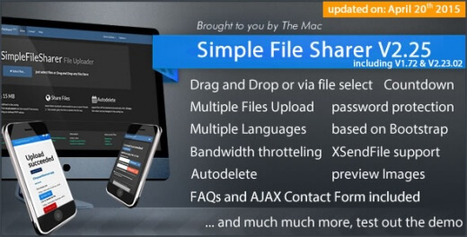 دانلود اسکریپت حرفه ای اشتراک گذاری فایل Simple File Sharer