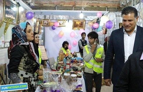 علی دایی و پوریا پورسرخ در بازارچه خیریه