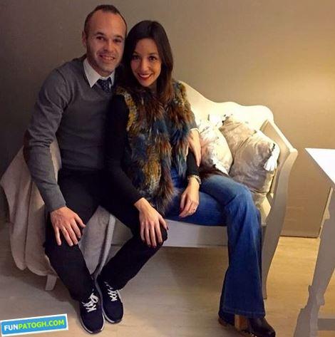 بازیکن محبوب بارسلونا و همسرش در روز زن