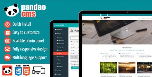 اسکریپت مدیریت محتوا Pandao CMS Pro نسخه 2