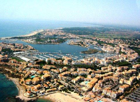 نمایی از شهر cap d'agde