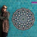 مرجانه گلچین در مسجد جامع یزد + عکس