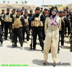 زن زیبای کرد ، سربازان زن کرد