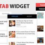 دانلود افزونه نمایش تب های مطالب WP Tab Widget