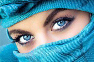 رنگ چشم به آبی