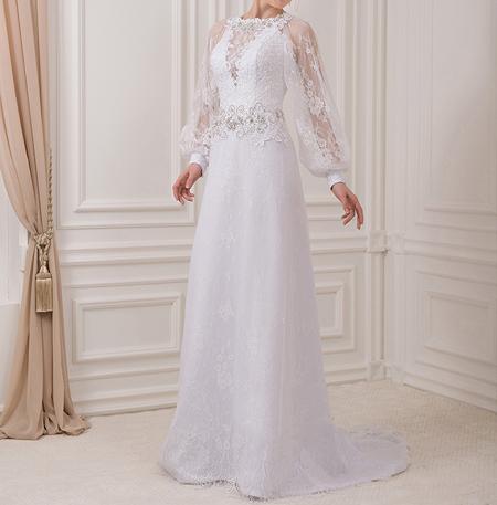 زیباترین مدلهای لباس عروس آستین دار (عکسها)