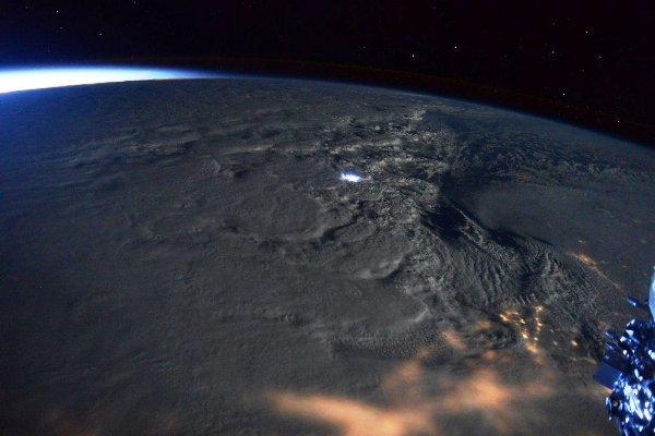 توفان برف آمریکا از ایستگاه فضایی+عکس
