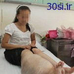 خوشحالی یک دختر به خاطر قطع شدن پایش +عکس