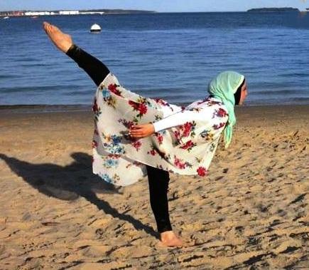 اولین رقاص باله با حجاب