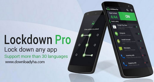 Lockdown Pro 2.4.2 - قفل گذاری برنامه ها در اندروید