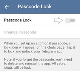 آموزش گذاشتن رمز و پسورد بر روی تلگرام + تصاویر