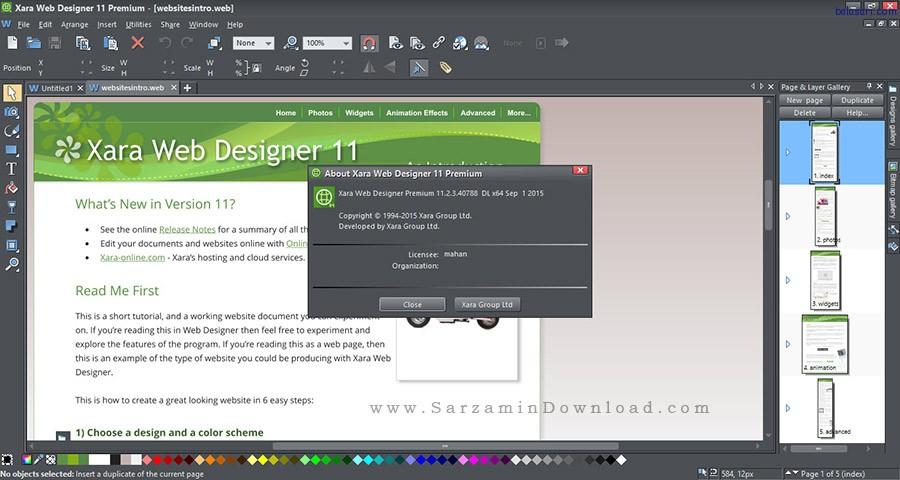 نرم افزار طراحی صفحات وب - Xara Web Designer Premium 11.2.3
