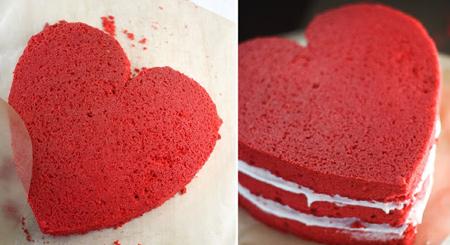مواد لازم برای کیک مخملی قرمز, نحوه درست کردن کیک مخملی قرمز ولنتاین