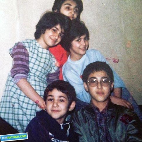 لاله اسکندری در کودکی کنار 2 خواهر و 2 برادرش